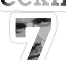 David Beckham 7 - Black & White Sticker