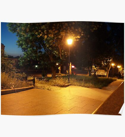 Night scene of the city Poster