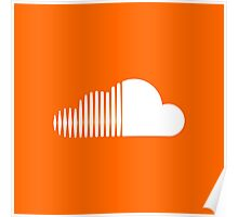 Soundcloud Icon Orange Cloud Poster