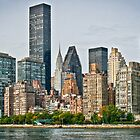 Manhattan Eastside Skyline by Philip Kearney