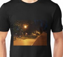 Bright street lights and staircase of granite Unisex T-Shirt
