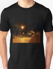 Bright street lights and staircase of granite T-Shirt