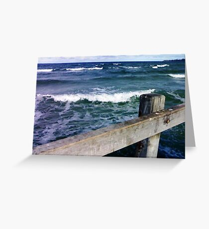 Chilly Morning - Mentone Beach Greeting Card