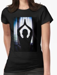 Yoga, meditation, relax. Womens Fitted T-Shirt