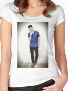 Matt Bomer Women's Fitted Scoop T-Shirt