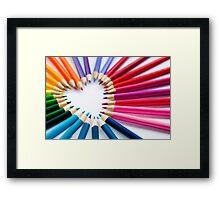 pencil heart.. Framed Print