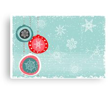 Xmas card Canvas Print