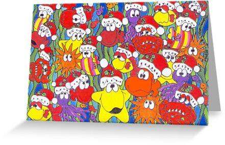 Santa Fishes by Sammy Nuttall