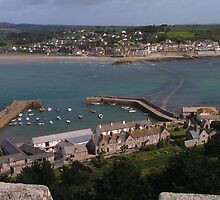 Marazion - Cornwall - seen from St Michael's Mount by Kat Simmons