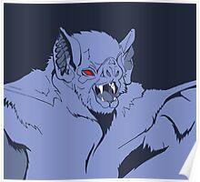 Pastel Vampire Bat Poster