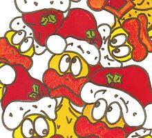 Santa Quackers by Sammy Nuttall