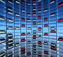 Urban Car Park Interior by Digital Editor .