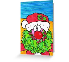 Holly Beard Santa Greeting Card