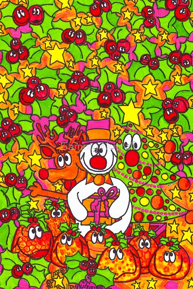 Rudolph, Snowy and Tree by Sammy Nuttall