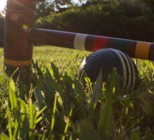 Croquet ball and mallet Sticker