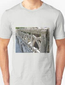 Fragment of an old stone wall of openwork casting T-Shirt