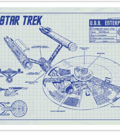 Star Trek U.S.S. Enterprise Sticker