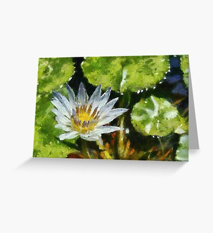 Waterlily in the style of Monet Greeting Card