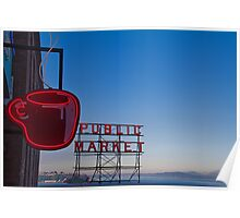 USA. Seattle. Public Market in the Morning. Poster