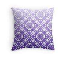 Lavander Ombre Lattice Circles Throw Pillow