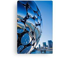 Golden Casket Light Sphere, Brisbane Festival 2011 (2 of 11) Canvas Print