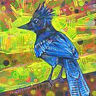Steller's jay painting - 2015 by Gwenn Seemel