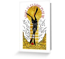 THE BLACK RABBIT OF INLE Greeting Card