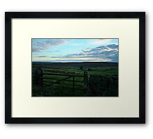 Sunset on Gisborough Moor Framed Print