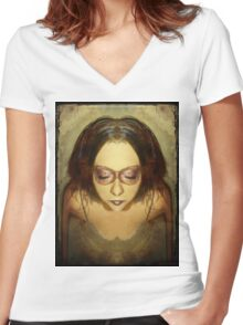 You tangle within me Women's Fitted V-Neck T-Shirt