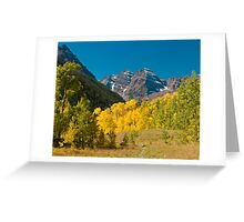 Meadow View of the Maroon Bells Greeting Card