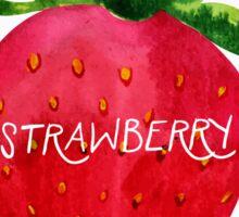 Watercolor strawberry Sticker