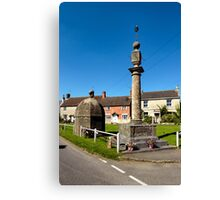 The Blind House and Market Cross, Steeple Ashton, Wiltshire, UK Canvas Print