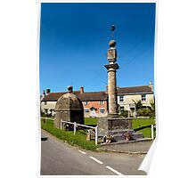 The Blind House and Market Cross, Steeple Ashton, Wiltshire, UK Poster