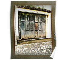 Weathered Wooden Garage Door - Guatemala Poster