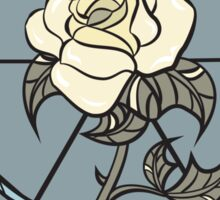 Stained Glass Yellow Rose Sticker