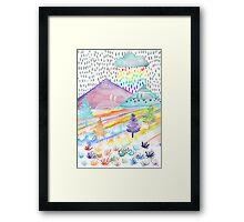 Watercolour Landscape Framed Print