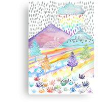 Watercolour Landscape Metal Print