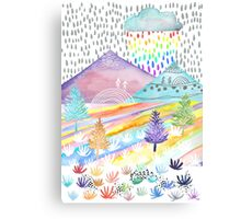 Watercolour Landscape Canvas Print