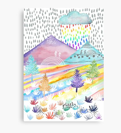 Watercolour Landscape Canvas Print