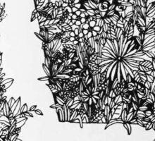 L in Flowers Sticker