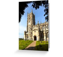 Steeple Ashton Church, Wiltshire, UK Greeting Card