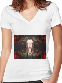 Time will feed upon your weakness Women's Fitted V-Neck T-Shirt