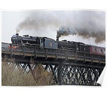 Double Black 5 - Findhorn Viaduct, Scotland Poster