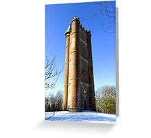 King Alfred's Tower, Stourton, Wiltshire, United Kingdom. Greeting Card