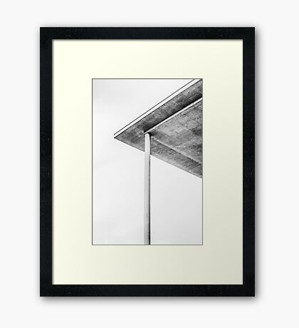Berlin, Paul-Löbe-Haus, roof construction Framed Print
