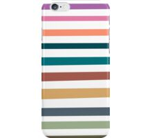 Modern trendy pink orange blue stripes pattern iPhone Case/Skin