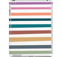 Modern trendy pink orange blue stripes pattern iPad Case/Skin