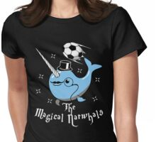 The Magical Narwhals Soccer Club Logo -Dark Womens Fitted T-Shirt