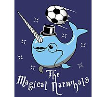 The Magical Narwhals Soccer Club Logo -Dark Photographic Print