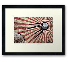 Retro satellite Framed Print